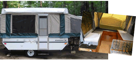 Pop up camper for rent