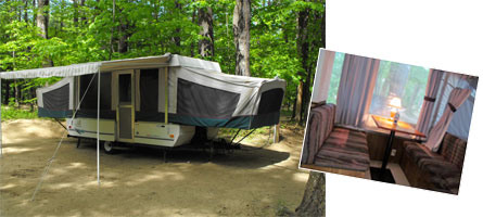 Popup Camper at Bearcamp Campground Ossipee, NH