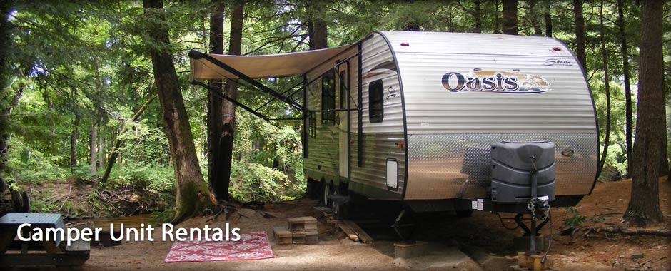 travel trailor rentals at campground