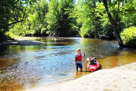 The Bearcamp River in Ossipee, NH